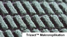 Trizact Makroreplikation, Schleifkornbelag mit den dazwischen liegenden Kühl-Lücken