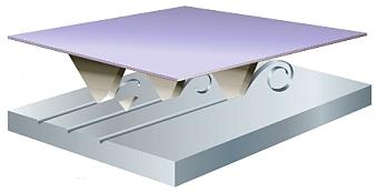 Das reproduzierbare Cubitron II Keramikkorn schneidet durch die Oberfläche