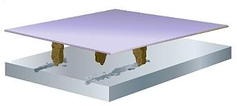 Konventionelles Schleifkorn pflügt durch die Oberfläche