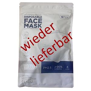 FFP2 Feinstaubmaske ohne Ausatemventil lieferbar